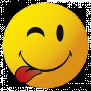 bonhomme sourire langue